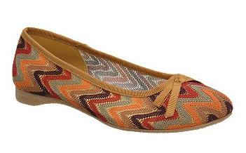 CL by Laundry Actress Fabric Ballet Flat in Tan