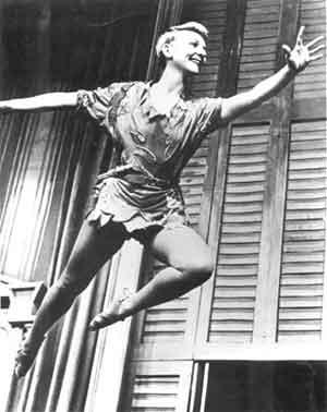 """(Mary Martin as Peter Pan) """"I won't grow up!"""""""