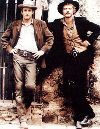 "Paul Newman and Robert Redford in ""Butch Cassidy and the Sundance Kid"""