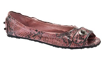 Penny Loves Kenny Peep Toe Reptile Flat, $24.94