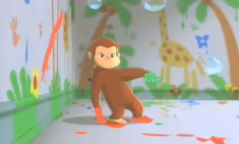 Even Curious George Knows That Some Color And Creative Finger Painting Can Lead To Exciting Adventures Who Knew A Cute Little Obtrusive Primate Could Be